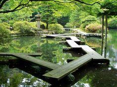 Japanese Garden Pond.