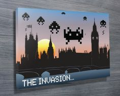 The London Invasion from $26.00. This unique pixel art shows the Tower of London being invaded by several space invaders. As with all art on this site, we offer these prints as stretched canvas prints, framed print, rolled or paper print or wall stickers / decals. http://www.canvasprintsaustralia.net.au/ #CanvasPrintsSydney #Photooncanvas