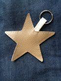 porte clés étoile en cuir home made