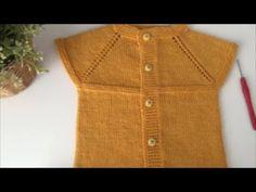 Yapımı Çok Kolay Yakadan Başlama Bebek Yeleği - 1 Yaş - YouTube