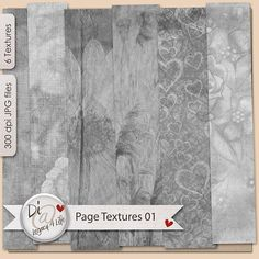 Texture Overlays | Page Creators | Commercial Use |  Digital Scrapbook Papers | Book Cover Textures