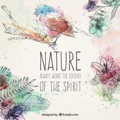 Elementos naturales dibujados a mano Vector Gratis
