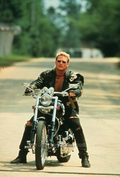 """Brian Bosworth from the movie """"Stone Cold"""" Oklahoma Sooners Football, Ou Football, Seahawks Players, Football Players, Biker Movies, Star Trek Posters, The Expendables, Hot Bikes, Easy Rider"""
