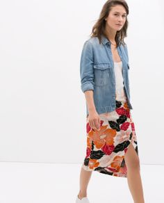ZARA - NEW THIS WEEK - MAXIFLOWER PRINTED SKIRT