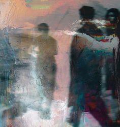 promenade - 2014 - oil on canvas - andré schmucki by andre schmucki, via Behance