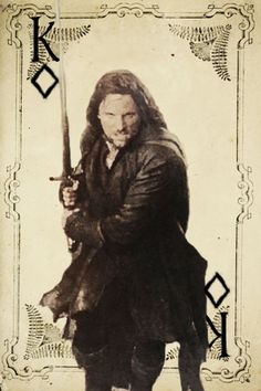 LotR Playing Cards -- Aragorn, King of Diamonds