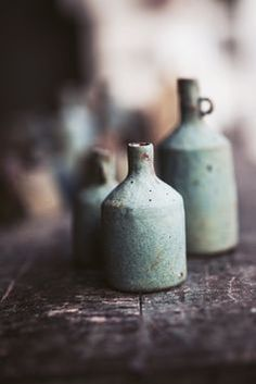 beautiful stoneware vessels; I like this pale/greyed celadon