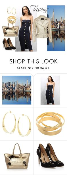 """Goldene Lady"" by trisens on Polyvore featuring Mode, Rare London, Lana, River Island und Sam Edelman"
