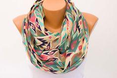 SALE Aztec Infinity scarfLoop scarf scarf by SenasShop on Etsy
