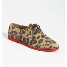 Steve Madden  leopard  jazie oxfords steve madden leopard  animal jazie oxfords red bottom....Please see small defect on one of the heels (pic 4 ) Steve Madden Shoes