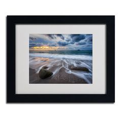 "Trademark Fine Art ""The Song of Water"" by Mathieu Rivrin Matted Framed Photographic Print"