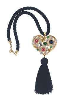 PENDANT TASSEL NECKLACE, BY VALENTINO