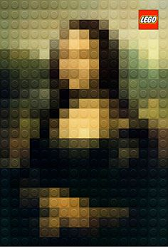 Pixelated LEGO recreates famous paintings. If only we had easy access to those shades of bricks, we could do the same!
