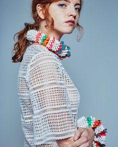 Phuang Malai SIRIPIRUN Spring/Summer16 accessories www.siripirun.com #youngdesigner#newdesigner#womenswear#label#london#colourful#flower#floral#detail#handcrafted#springsummer16#siripirun#emboidery#detail#fabricmanipulation#lookbook#ss16#beads#accessories#choker#bangles#lasercut @kcharlottek by siripirun