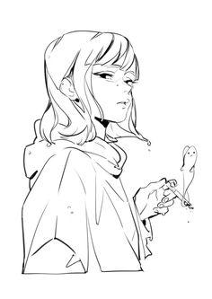Drawing Reference Poses, Drawing Poses, Pretty Art, Cute Art, Manga Art, Anime Art, Estilo Anime, Cartoon Art Styles, Anime Sketch