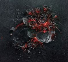 """A creative team at the Warsaw production house Ars Thanea created """"The Ash"""", a gorgeous photo tribute to the determination of dreams as represented by a smoldering bouquet of roses, covered in ash and lit by a burning fire below."""