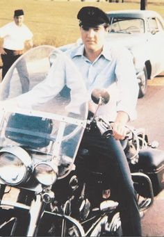 Elvis arrived on his Harley Davidson at RCA's Studio B Recording Studio early on the morning of January 12, 1964
