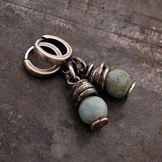 SALE ! MAY 22 - 31 Use CODE • light blue raw silver earrings • raw glass earrings 925 silver • Mother's day • drop hoop earrings •  by ewalompe on Etsy https://www.etsy.com/listing/529275611/sale-may-22-31-use-code-light-blue-raw