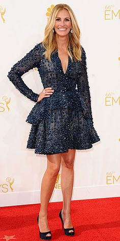 The Best Dressed of the Night! | JULIA ROBERTS | One reason we predicted this Elie Saab mini for the Emmys red carpet? We knew it was too fabulous for an A-list star like Julia to resist.