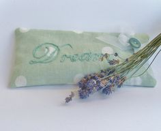 Lavender sleep pillow / lavender bag by MissWinnieMakes on Etsy, £8.00