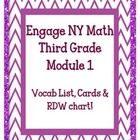 This is for EngageNY Math Grade Module 1 and includes: -vocab list -word wall words -RDW chart My entire module 1 overview is available at: . 3rd Grade Classroom, Third Grade Math, Math Classroom, Grade 3, Classroom Ideas, Math For Kids, Fun Math, Math Activities, Teaching Math