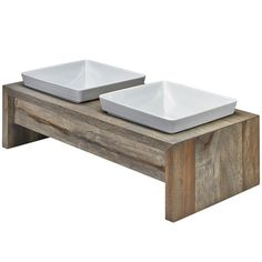 The unique grain and natural beauty of these hand crafted Rubberwood Artisan Feeders enhanced by a soothing neutral finish creates a rich, chic look. The Artisan Feeder is a new sophisticated option t