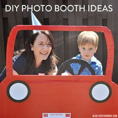 The car photo booth we made for my youngest's birthday party last year was such a hit, it has us brainstorming for our next photo booth idea! Today we've collected some of our favorite party photo booths and backdrops from across the web. Click on the links below to find out how to make each one! 1. Balloon Backdrop | 2. Polaroid Photo Booth 3. Lemonade Stand | 4. Rocket Ship | 5. Hot Air Balloon 6. Ticket Backdrop | 7. Car Photo Booth How amazing is that hot air balloon? We are so excited…