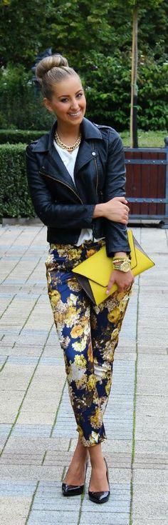 Pantalon a fleur
