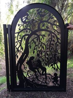 Metal Art Gate Iron Garden Decorative Custom Walk Thru Pedestrian Ornamental   Home & Garden, Yard, Garden & Outdoor Living, Garden Fencing   eBay!