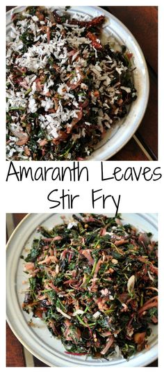 Amarantha Leaves are so healthy, they are almost super food. Packed with minerals, vitamins, high in protein these leaves must be a part of your regular diet. Here is a simple thoran from Kerala using the Amaranth leaves that I grew in my garden. Cheera Thoran or Amaranth leaves stir fry