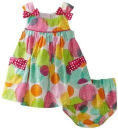 Bonnie Baby Girls Infant Allover Dot Empire Waist Sundress