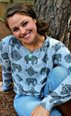 Heather Grey Elephant Sweater
