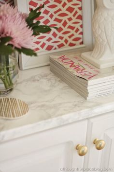 Faux Marble Countertops Easy Transformation