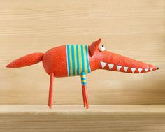 This is very cheerful f and kind fox.He loves children, fun ,laughter and good music.He can be a good friend for everyone, who loves foxesVery kind fox was made by hand and with love