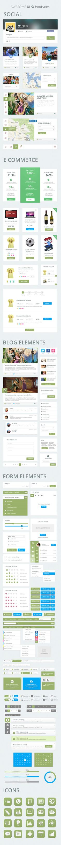 10 kostenlose Flat UI Kits für Webdesigner