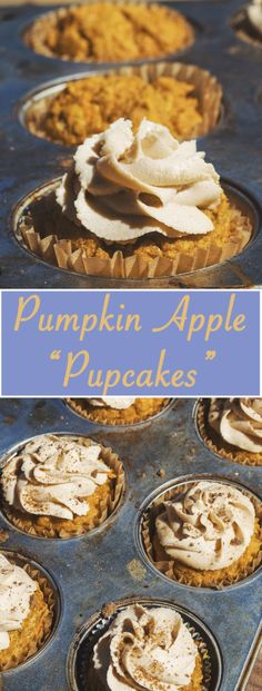 Humans shouldn't be the only ones getting pumpkin treats this fall!  These pumpkin apple cupcakes are a healthy delicious treat for your four legged friend!