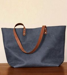 Large+Grey+Leather+Tote+by+Neva+Opet+on+Scoutmob+Shoppe