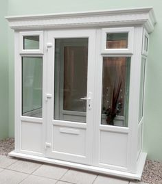 Porch with a GRP flat roof 2.0m X 1m | GRPPORCH2x1