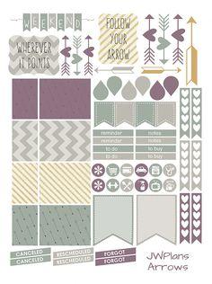 PRINTABLE Erin Condren Planner Arrows by PricklyPearDesignCo