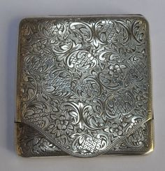 ANTIQUE SOLID STERLING SILVER 900 MATCH BOX HOLDER