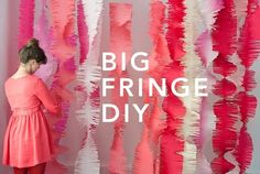 Colorful Fringe makes a great party decoration or Photo Booth Background by louisa