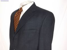Men's Burberry London Sport Coat/Blazer Size 42L #BurberryLondon #ThreeButton