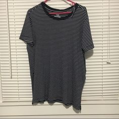 Blue and White Striped Tunic This shirt has navy blue and white stripes. If you are a simple person, then this shirt is for you!  Old Navy Tops Tunics