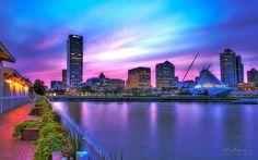 Sunset at Milwaukee Skyline