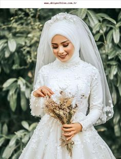 # Hijab Simplicity Grace Hijab Wedding Dresse… – About Wedding Dresses Wedding Abaya, Muslimah Wedding, Muslim Wedding Dresses, Muslim Brides, Bridal Dresses, Wedding Gowns, Muslim Couples, Wedding Cakes, Ivory Bridesmaid Dresses
