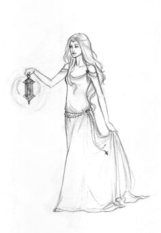 Daughter of A Star, by Achen089 on deviantART. >> A beautiful sketch of a medieval-style maiden. =)
