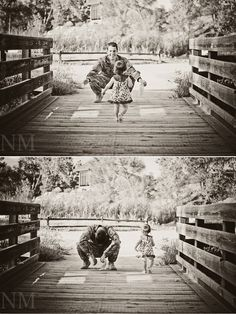 """militarysweetiesblog: """"Here's a little fun outtake for ya'll. Let this be a lesson…your children will most likely NOT do what they always do at home, for me. Haha. We attempted the """"running into daddy's arms"""" shot multiple times…and JUST when we thought we had it…detour! Poor daddy!"""" —-https://www.facebook.com/NicoleMcCabePhotography"""