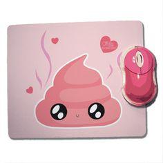 Tapis de souris Fluffy chamalow caca rose