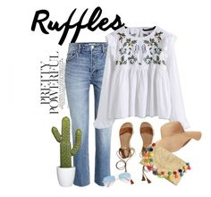 """""""Ruffle time!"""" by solespejismo ❤ liked on Polyvore featuring WithChic, Hollister Co., Old Navy and Ray-Ban"""