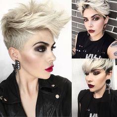 #modelos de pelo corto 2018 10 cortes de pelo Daring Pixie para mujer, peinado corto y color  #Fino #Largo#10 #cortes #de #pelo #Daring #Pixie #para #mujer, #peinado #corto #y #color